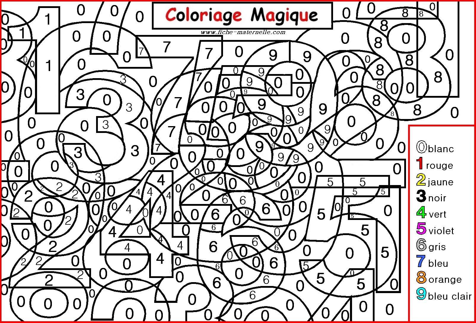 66 dessins de coloriage magique imprimer sur laguerche - Dessin avec des chiffres ...