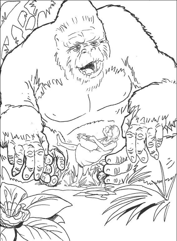 dessin a imprimer king kong