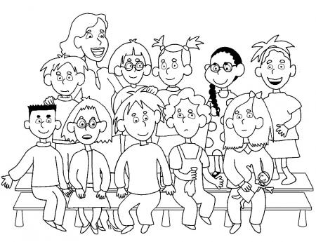 Coloriage Fete Ecole.46 Dessins De Coloriage Rentree Maternelle A Imprimer Sur Laguerche