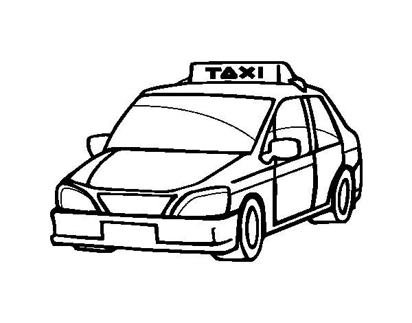 S lection de dessins de coloriage taxi imprimer sur - Dessin d un car ...
