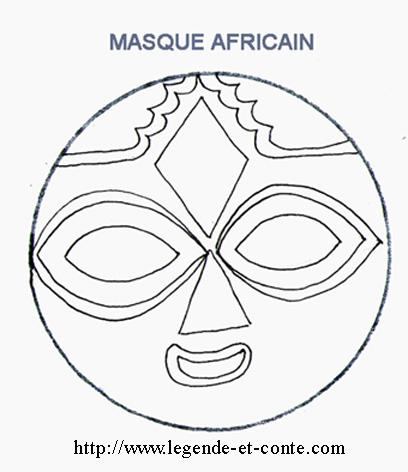 Masque africain enfant mj14 jornalagora - Coloriage afrique a imprimer ...