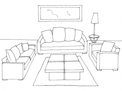 15 dessins de coloriage salon imprimer sur. Black Bedroom Furniture Sets. Home Design Ideas