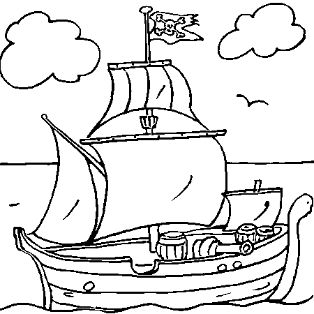 33 dessins de coloriage bateau pirate imprimer sur page 1 - Dessins de pirates ...
