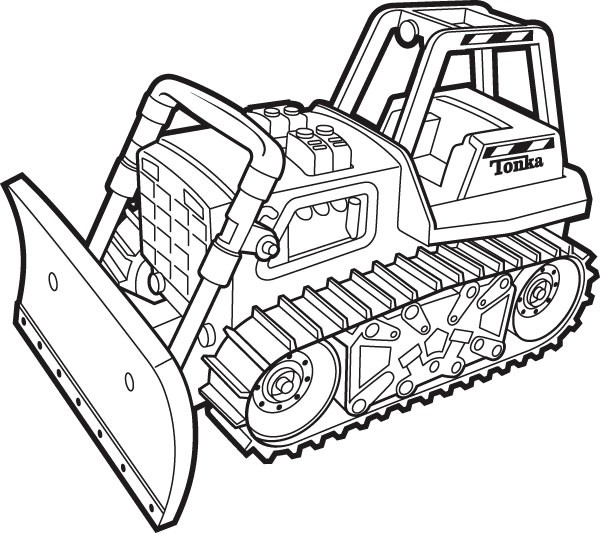 24 dessins de coloriage bulldozer