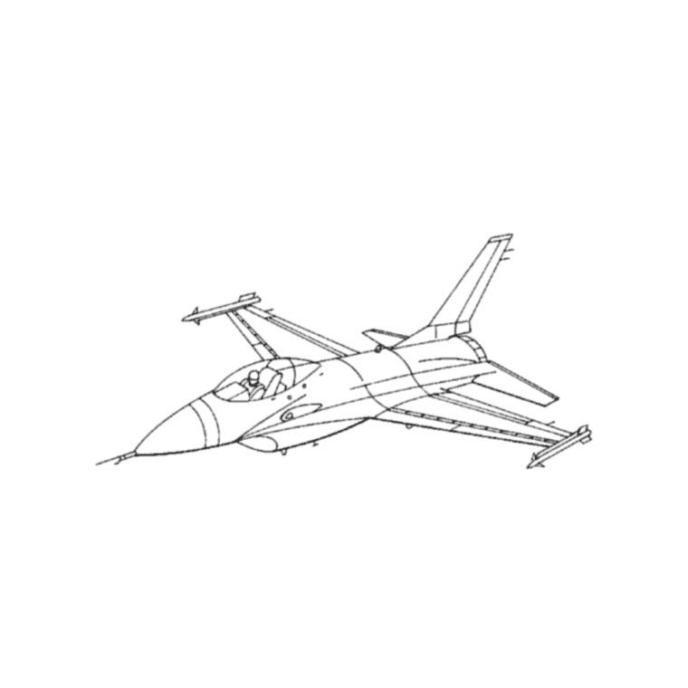 30 Dessins De Coloriage Avion De Chasse à Imprimer Sur