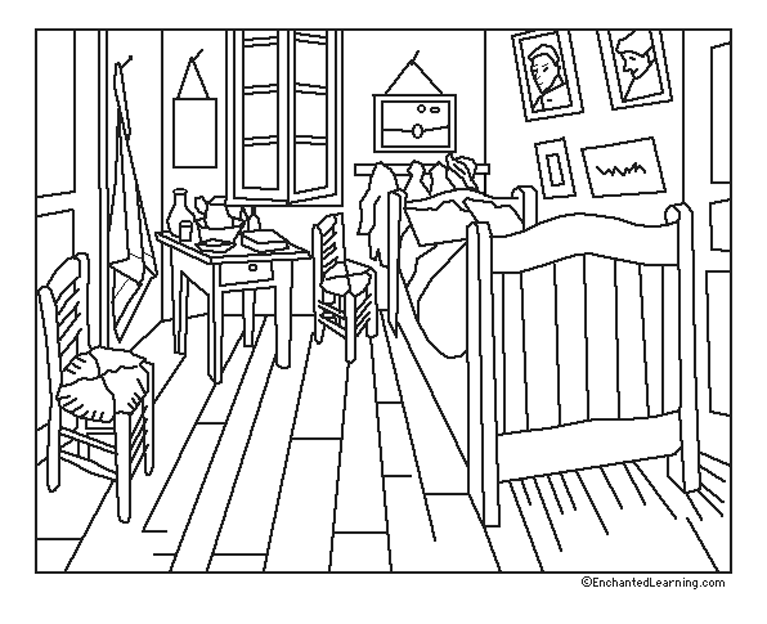 38 dessins de coloriage chambre imprimer sur page 1. Black Bedroom Furniture Sets. Home Design Ideas