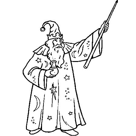 37 dessins de coloriage magicien imprimer sur laguerchecom page 1