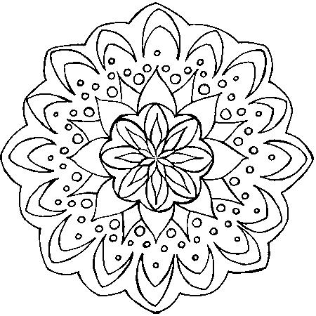 57 dessins de coloriage mandalas fleurs imprimer sur - Fleur en coloriage ...