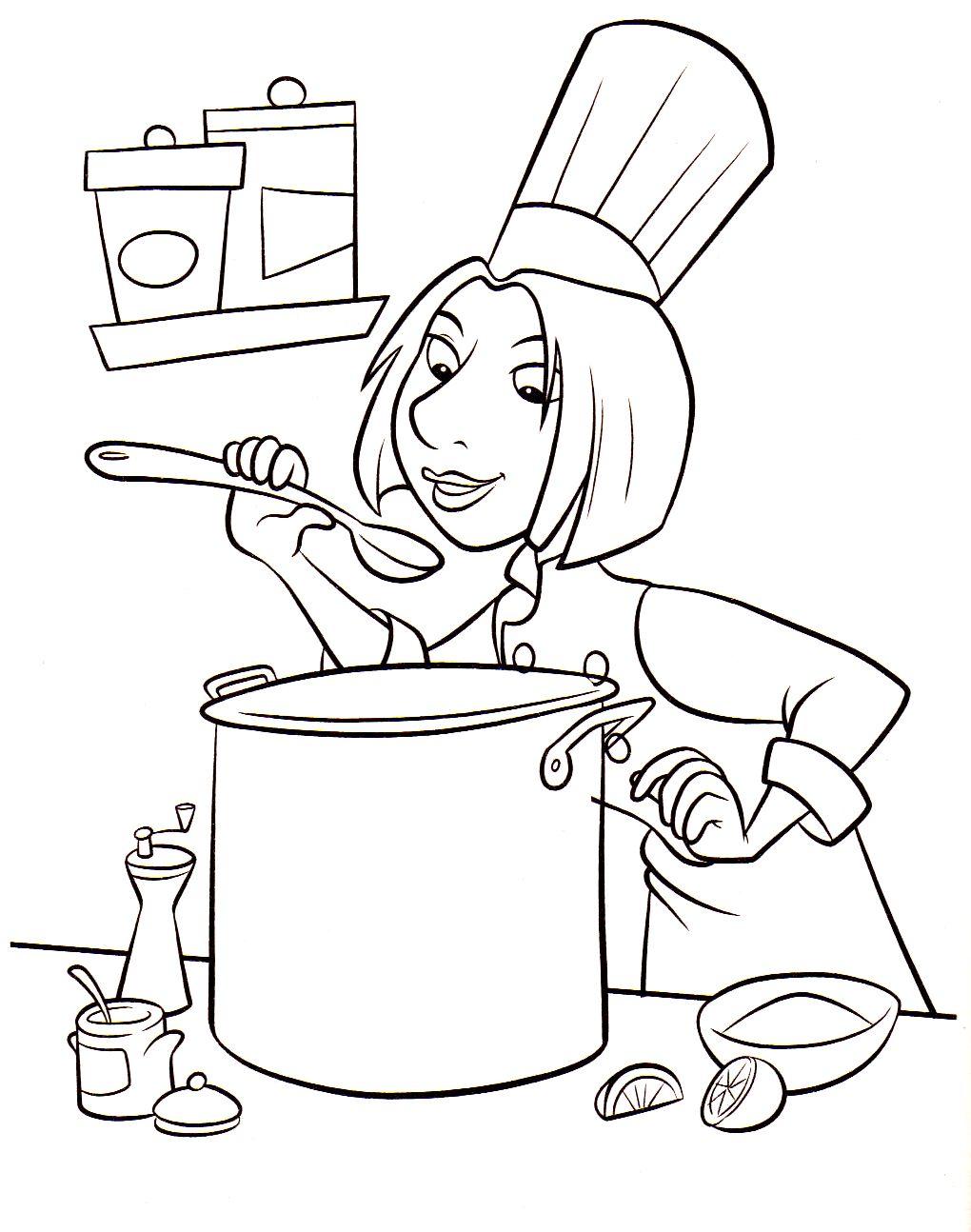 79 dessins de coloriage cuisine imprimer sur page 1. Black Bedroom Furniture Sets. Home Design Ideas