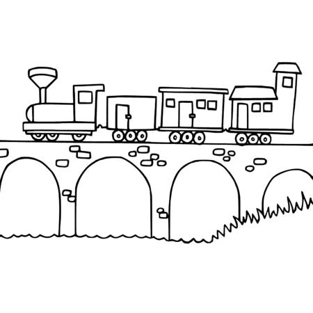 30 dessins de coloriage pont imprimer sur page 1 - Dessin de train a imprimer ...